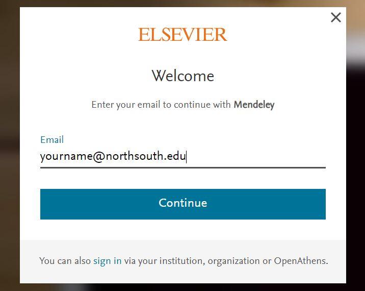 Mendeley Registration